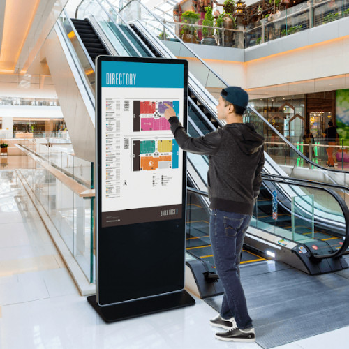 Wayfinding kiosk in shopping centre